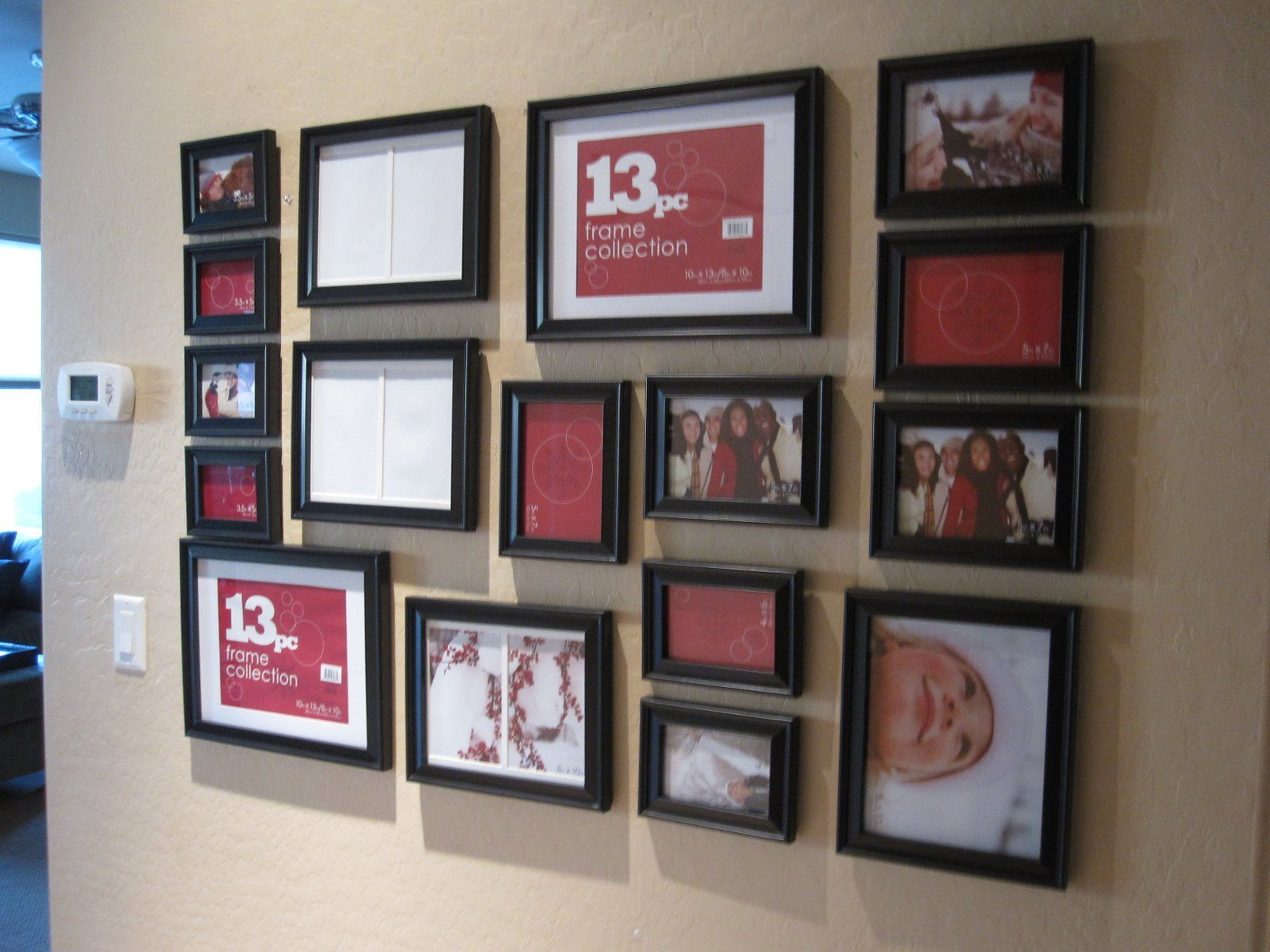 10x13 8x10 4x6 picture wall pinterest for 10x13 kitchen layout