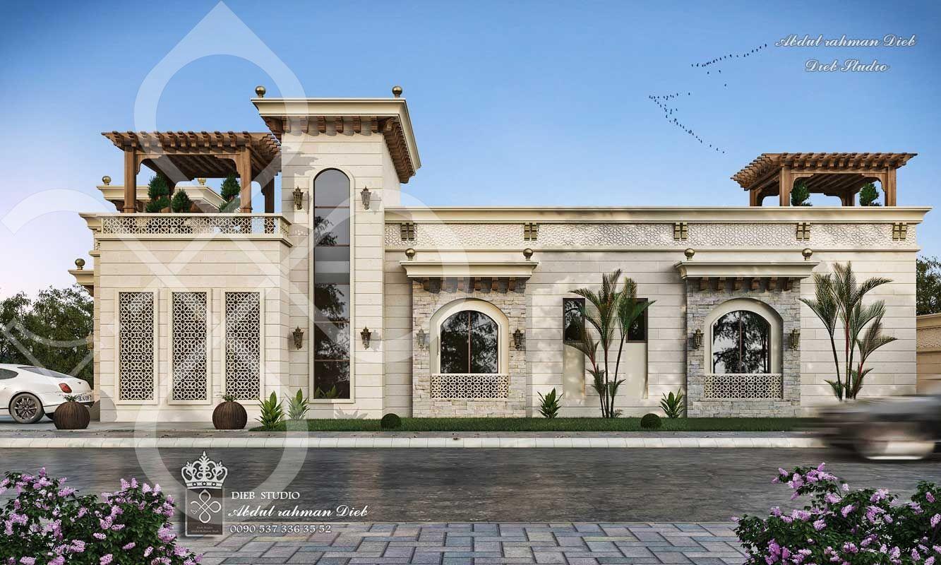Omani Style Villa Oman Diebstudio Classic House Design Bungalow House Design Mansion Designs