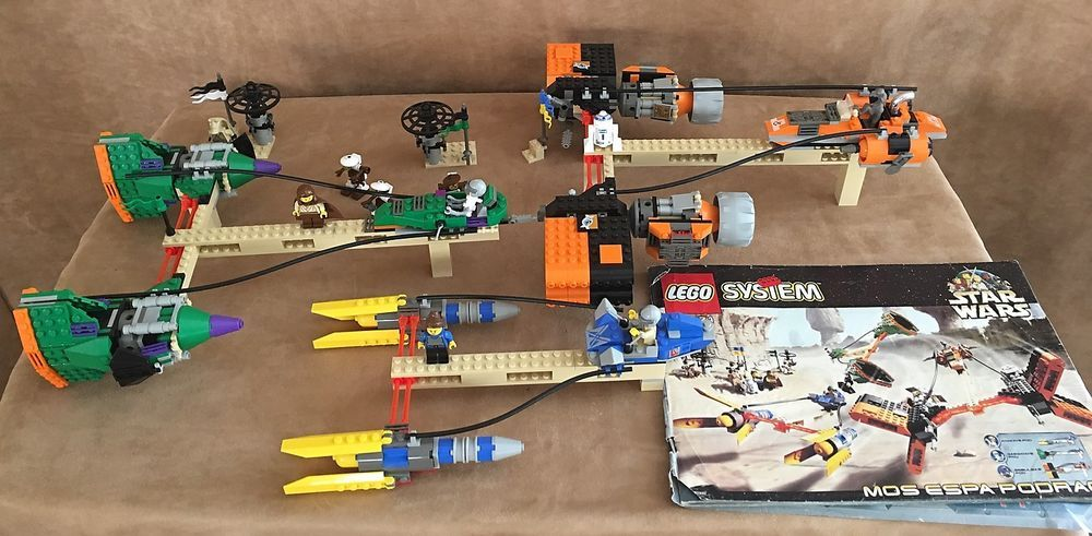 7171 Lego Complete Star Wars Mos Espa Podrace Instructions Vintage