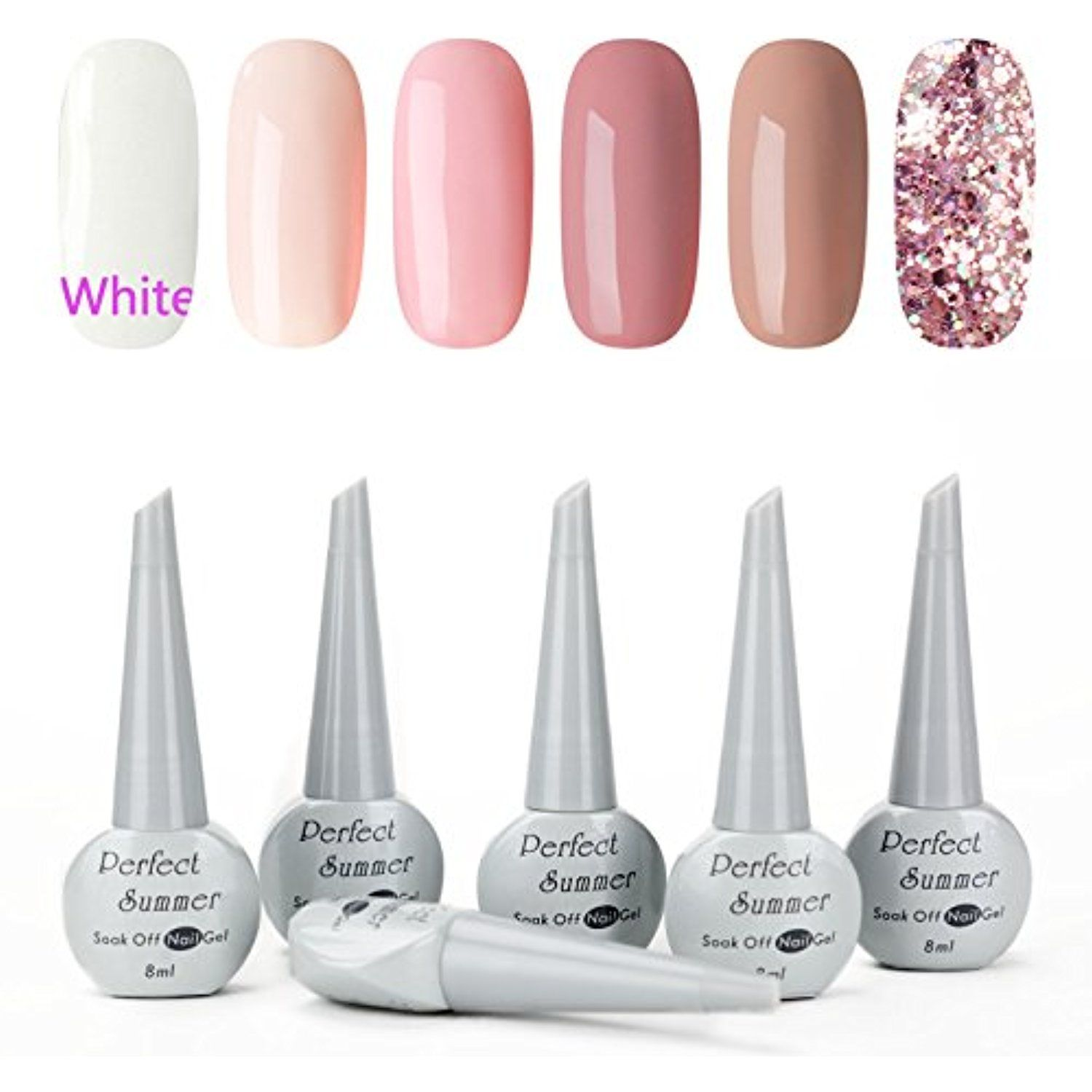 Professinal Gel Nail Polish Set - UV LED Soak Off Nail Lacquers for ...