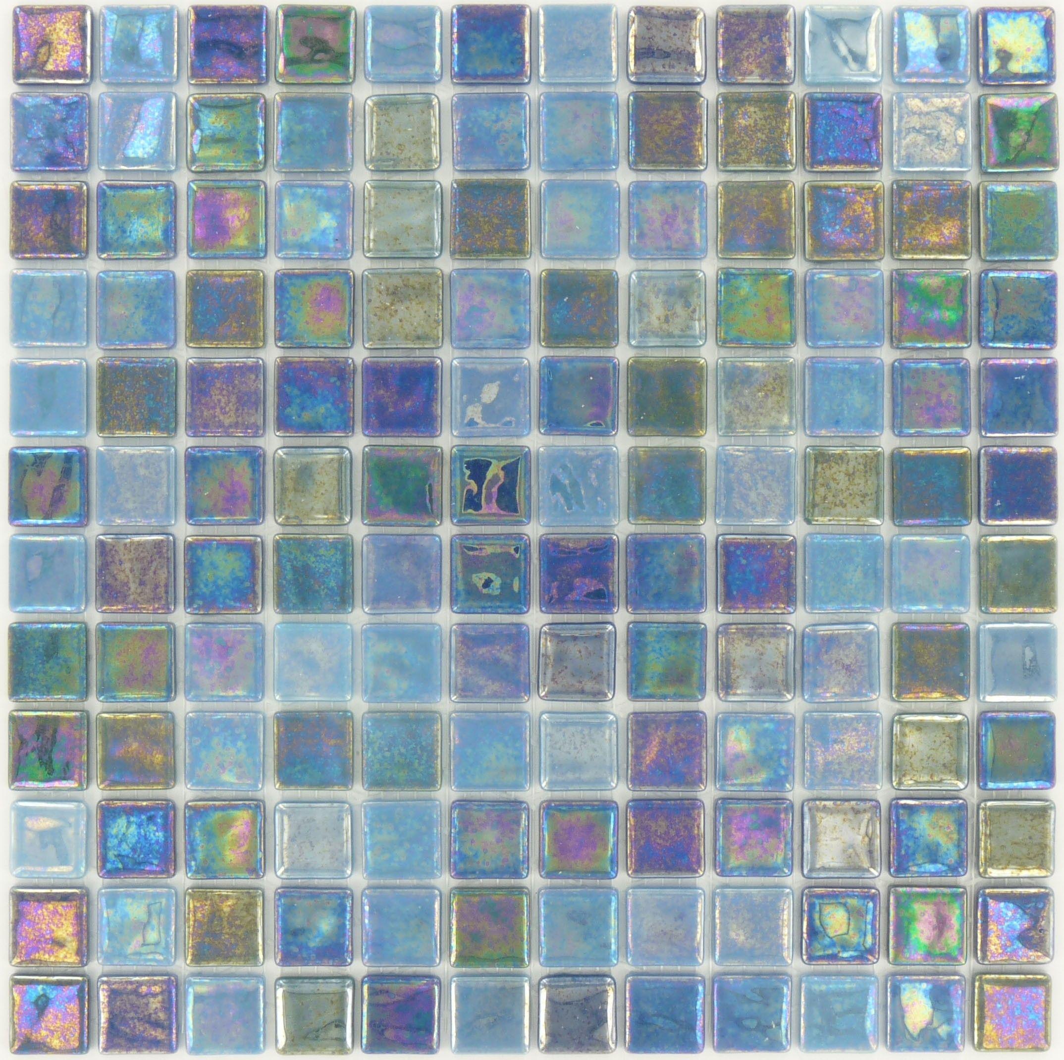 Sheet Size 12 1 8 X 12 1 8 Tile Size 7 8 X 7 8 Nominal Tiles Per Iridescent Glass Tiles Recycled Glass Tile Iridescent Glass