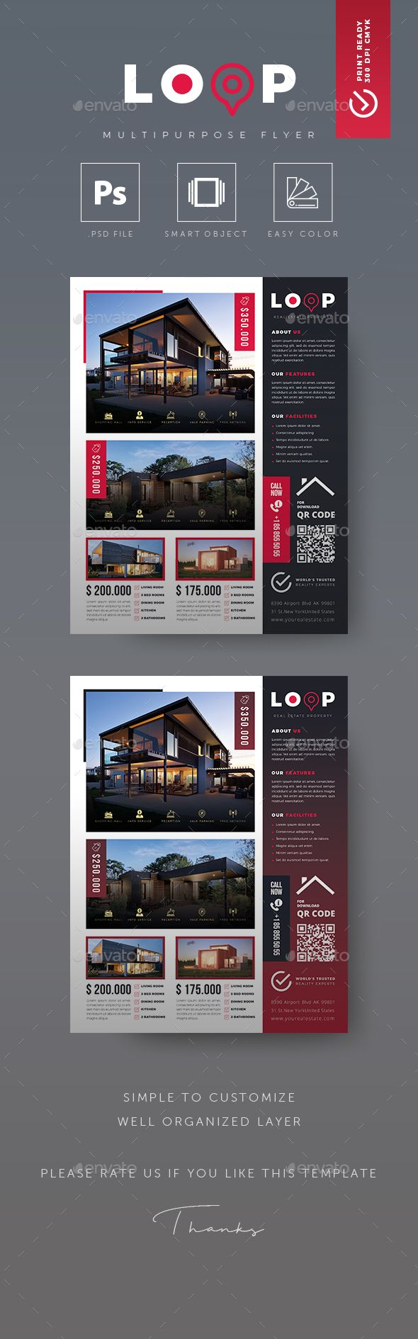 Real Estate Flyer Commerce Flyers Realty
