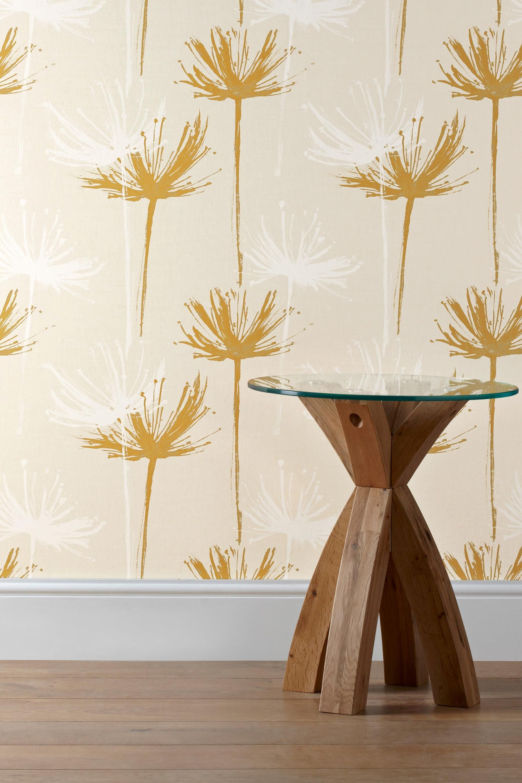 Buy Ochre Dandelion Wallpaper from the Next UK online shop