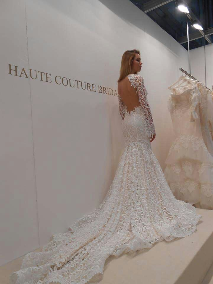 A lot of lace, for a very romantic bride