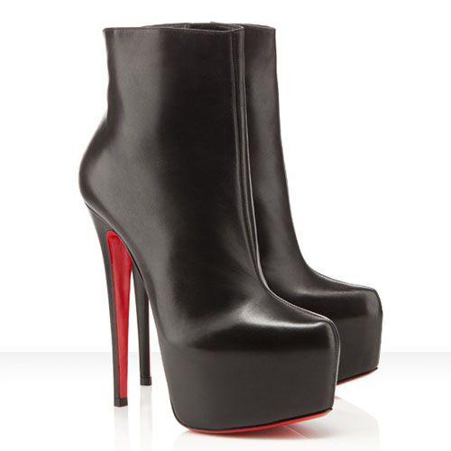 Fashion Christian Louboutin Daf Booty 160mm Leather Ankle Boots ,Daf Booty 160mm Leather Ankle Boots,On Sale