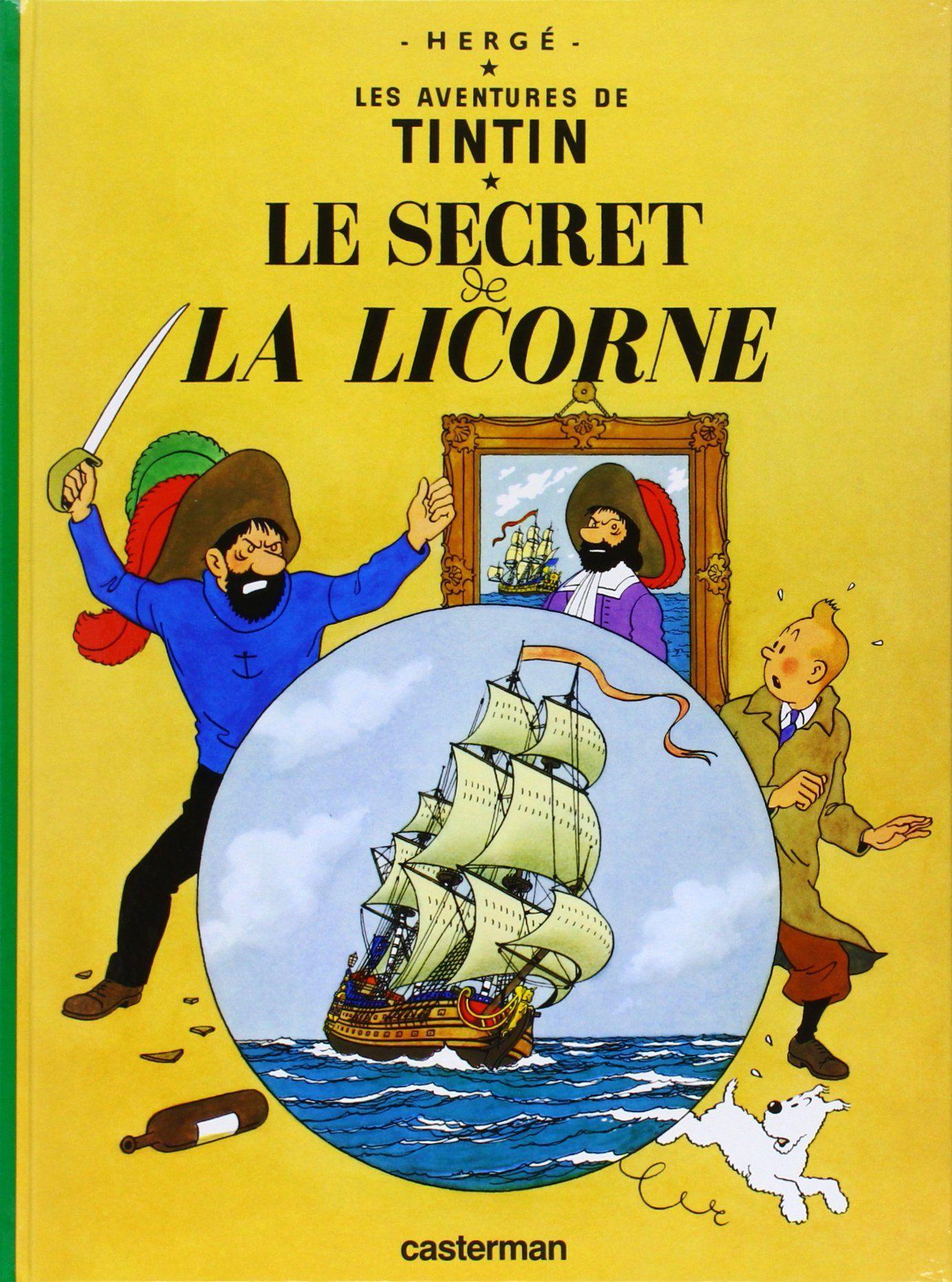 Le Secret De La Licorne De Herge Casterman 1943 Reedition 2007 Telechargement Tintin Herge