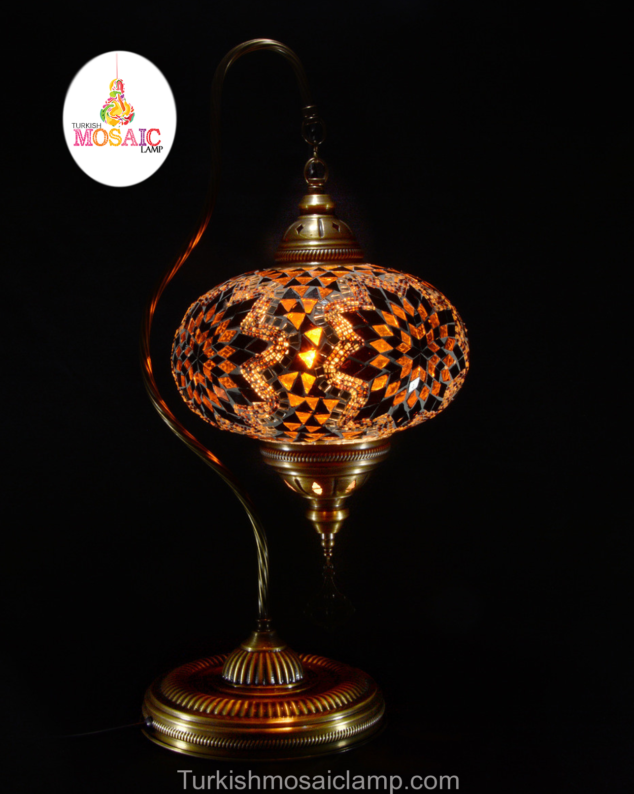 Swan Neck Mosaic Lamp Size 5 Mosaik Lampen