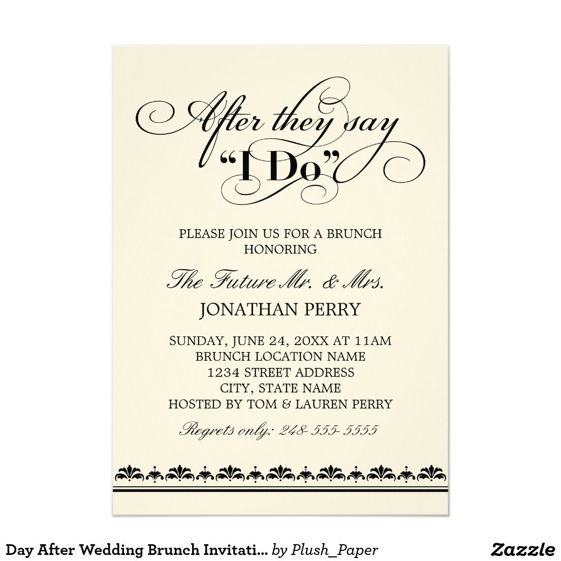 Day After Wedding Brunch Invitation Vows