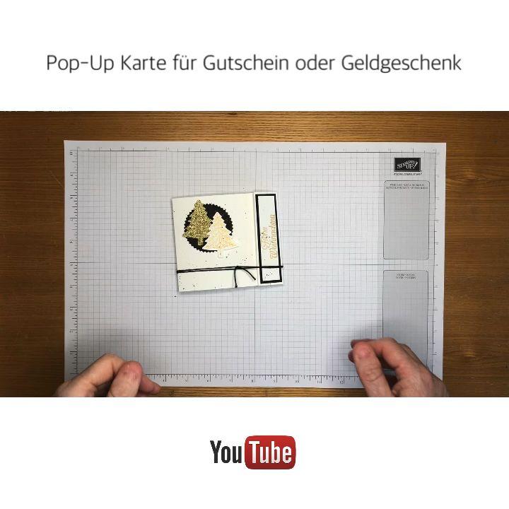 Anleitung - Pop Up Karte für Gutscheine oder Geldgeschenke - YouTube