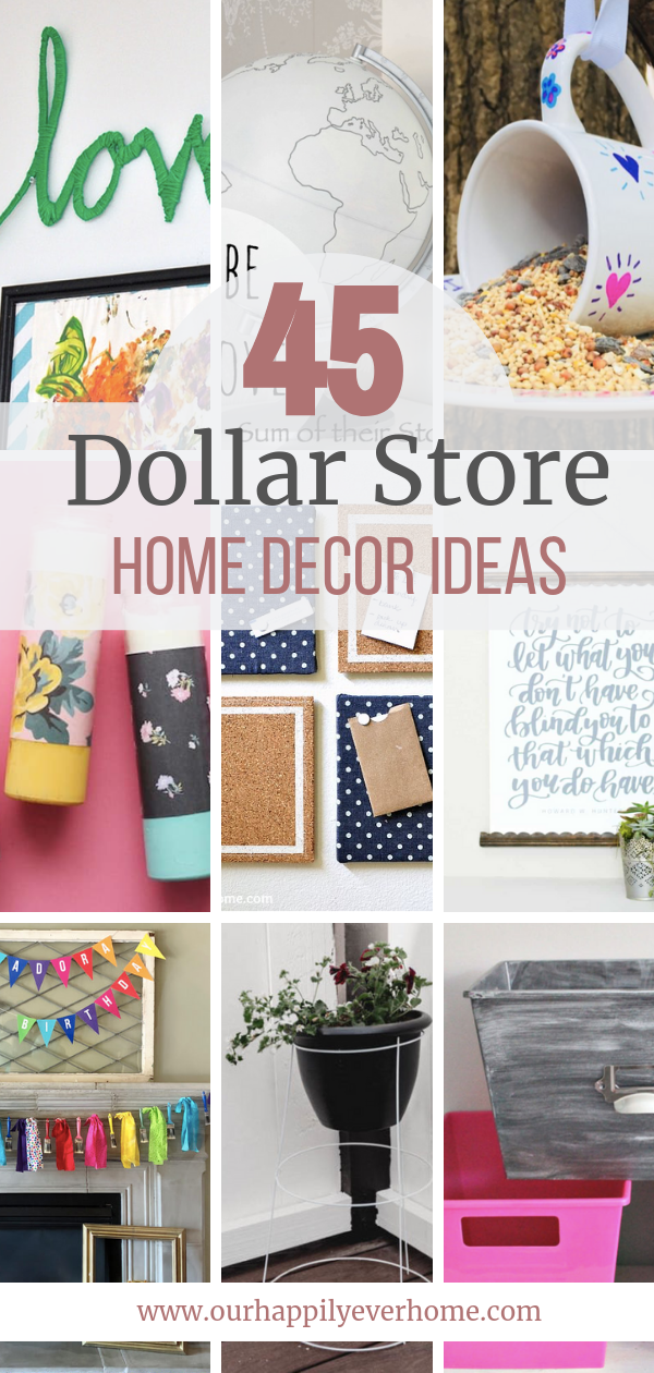 45 Affordable Diy Dollar Store Home Decor Ideas In 2020 Dollar