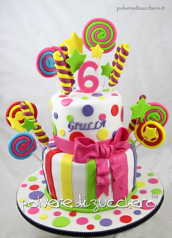 Girl Candy Cake Torta In Pasta Di Zucchero Caramelle Compleanno