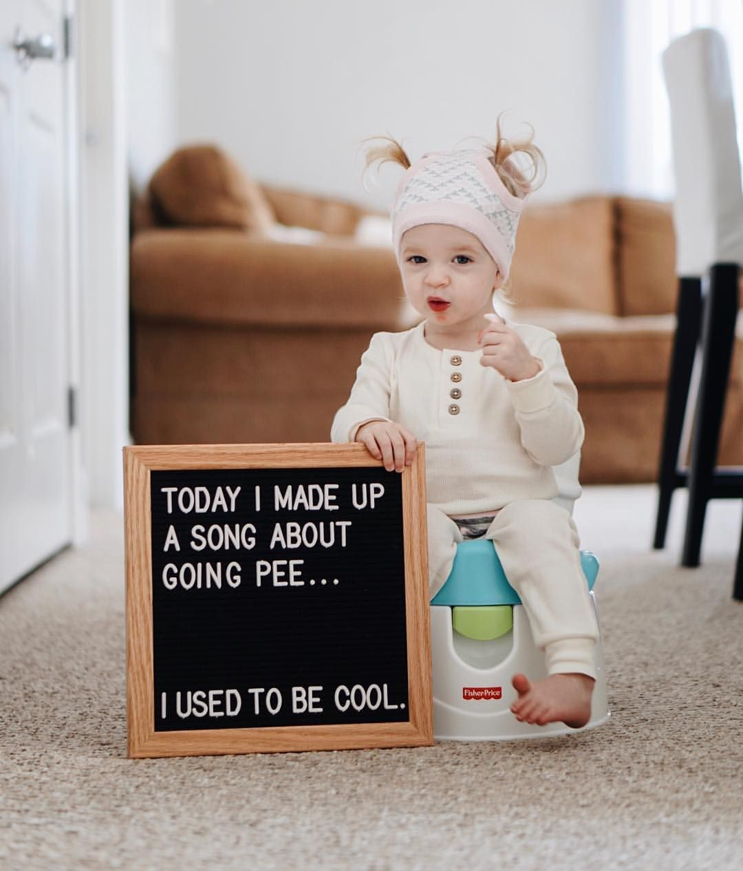 Letter Board Potty Training A Toddler Fisher Price Potty Instagram Mrs Happygilmore Baby Milestones Pictures Letter Board Lettering