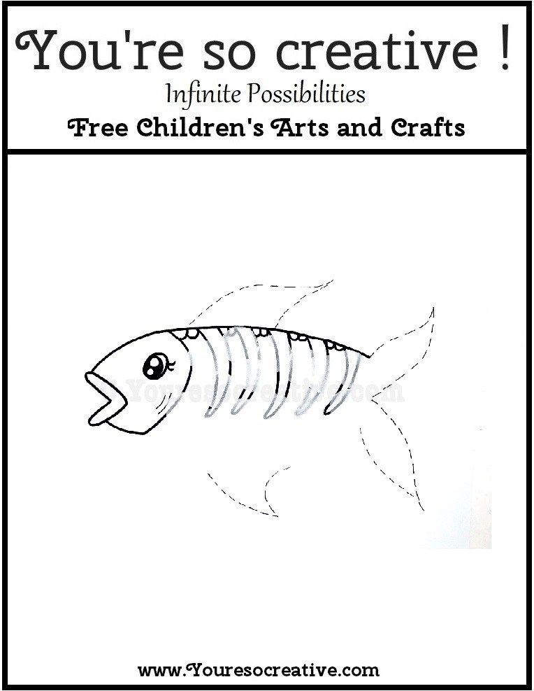 X Ray Fish Arts And Crafts For Kids Fish Crafts Art For Kids