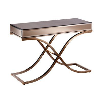 Boston Loft Furnishings ATG37 Stacy Mirrored Console Table