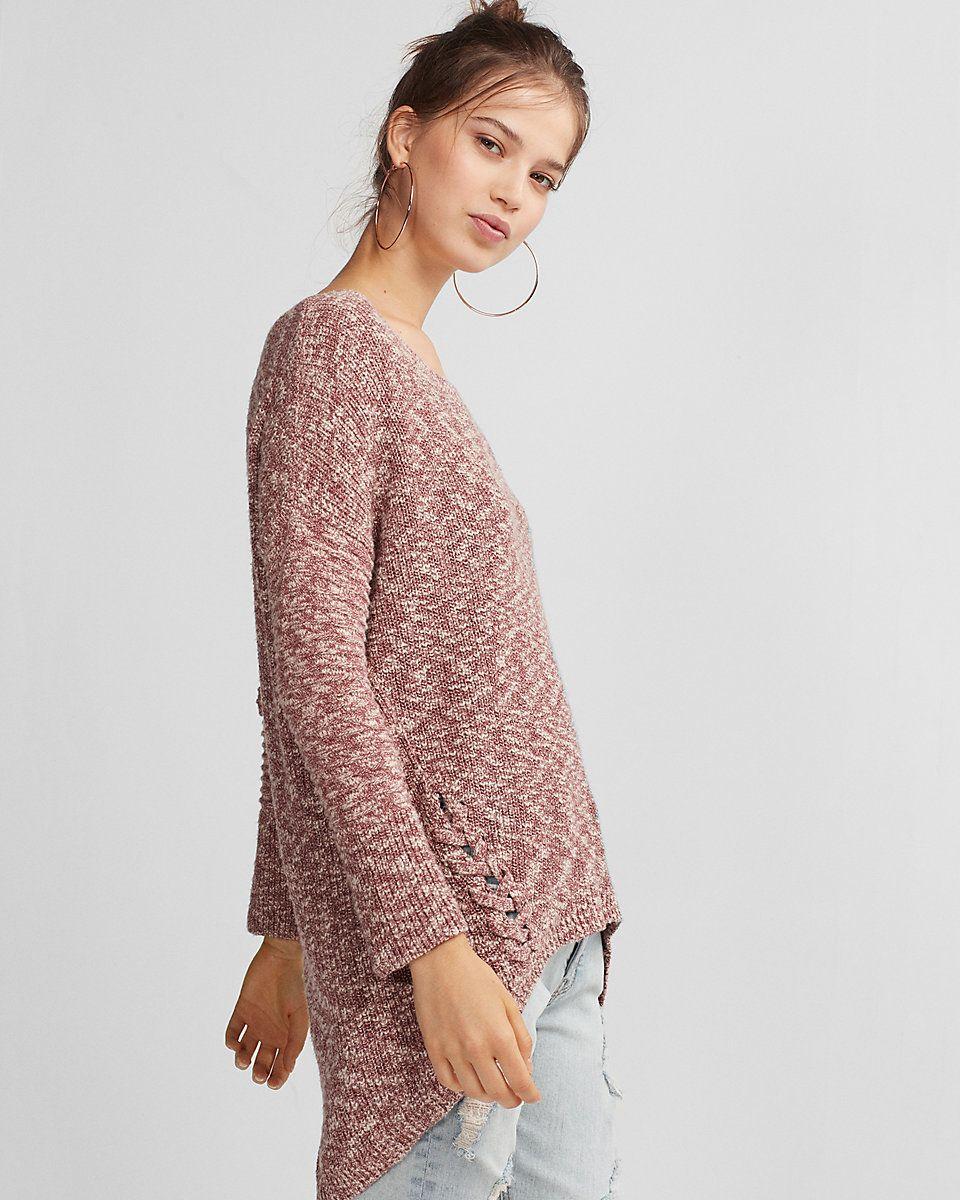 Marled Lace-up Side Tunic Sweater | Wish List | Pinterest | Tunic ...