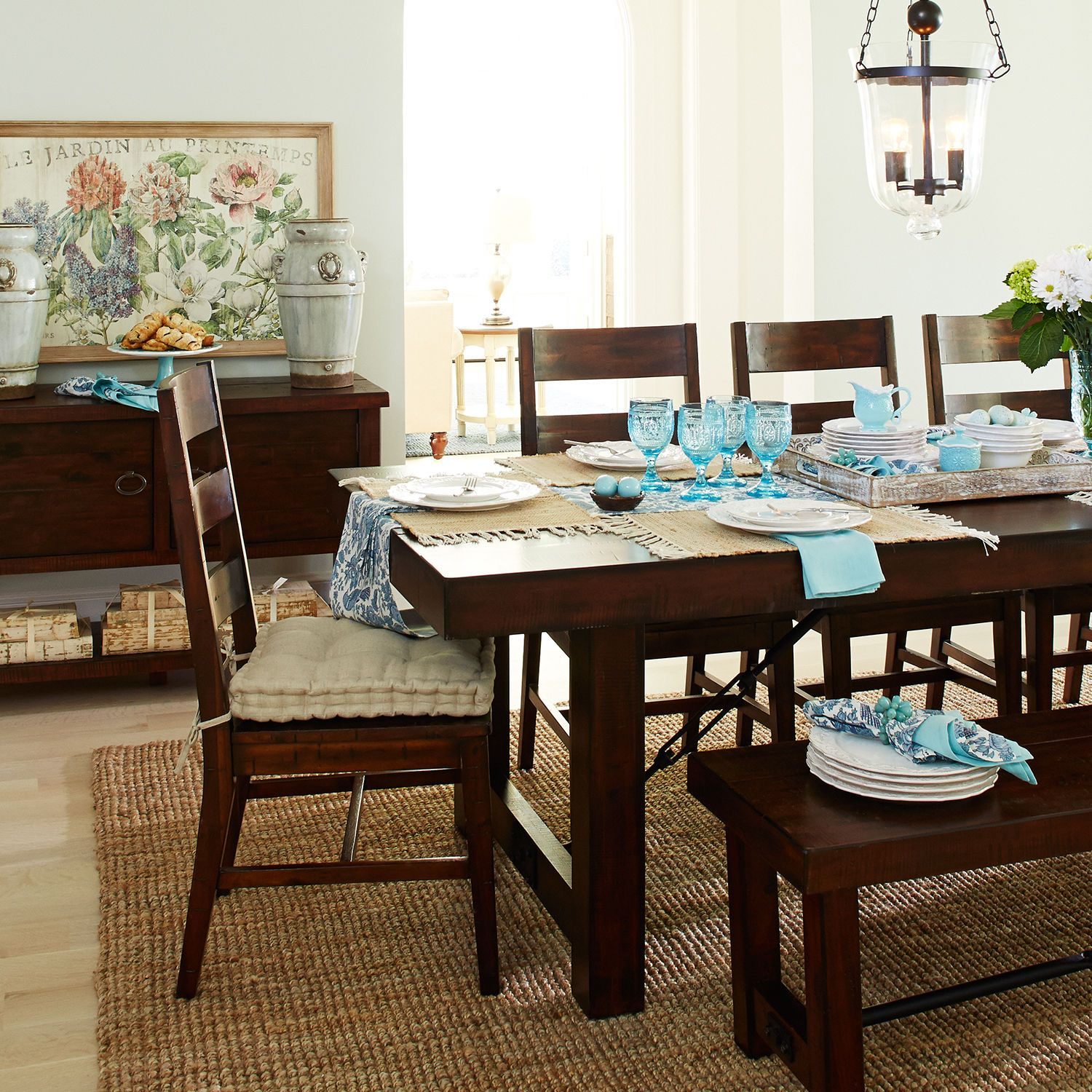 """Eastwood Tobacco Brown 94 5"""" Dining Table"""