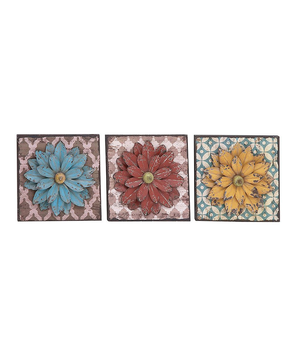 This flower wall art set by is perfect zulilyfinds zulily