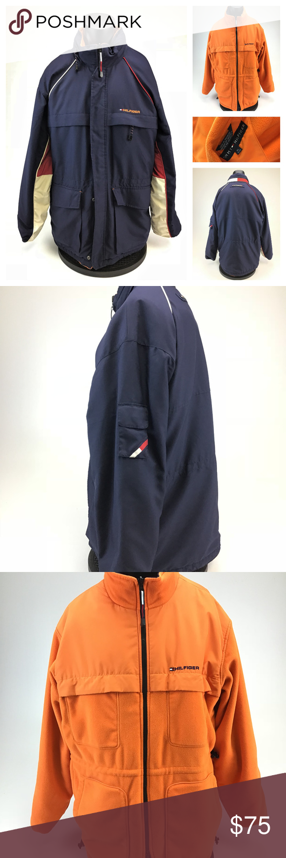 Tommy hilfiger reversible fleece winter coat my posh closet