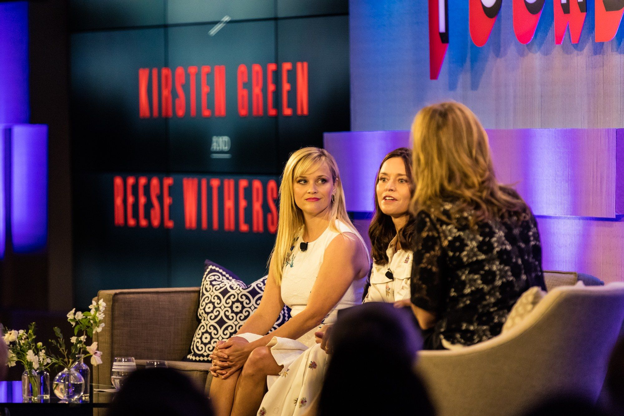Reese Witherspoon, Founder of Draper James, Kirsten Green, Founder and Managing Director of Forerunner Ventures, and Krista Smith, Executive West Coast Editor of Vanity Fair. Photograph by Justin Bishop.