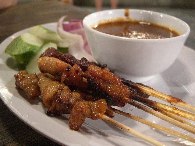 Chicken and Beef Satay - Vivo City Food Republic food court by avlxyz, via Flickr