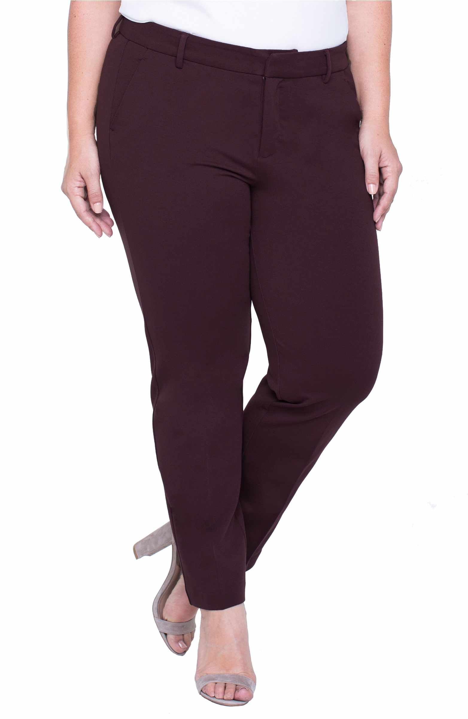 Main Image Liverpool Jeans Company Kelsey Ponte Knit Trousers Plus Size Ponte Knit Liverpool Jeans Work Wardrobe Staples