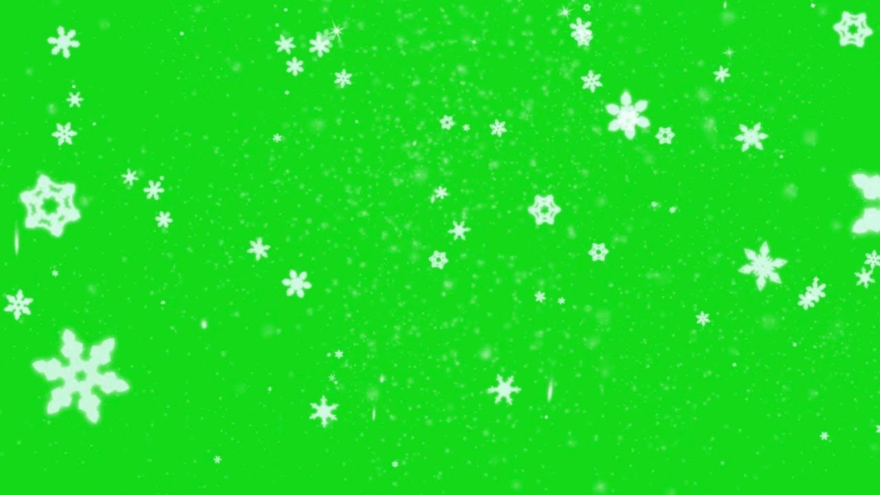 Large Snowflakes On Christmas Day Green Screen Snowflakes Greenscreen Green Screen Backgrounds Free Green Screen