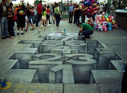 pseudo 3d chalk street art DIY projects to try