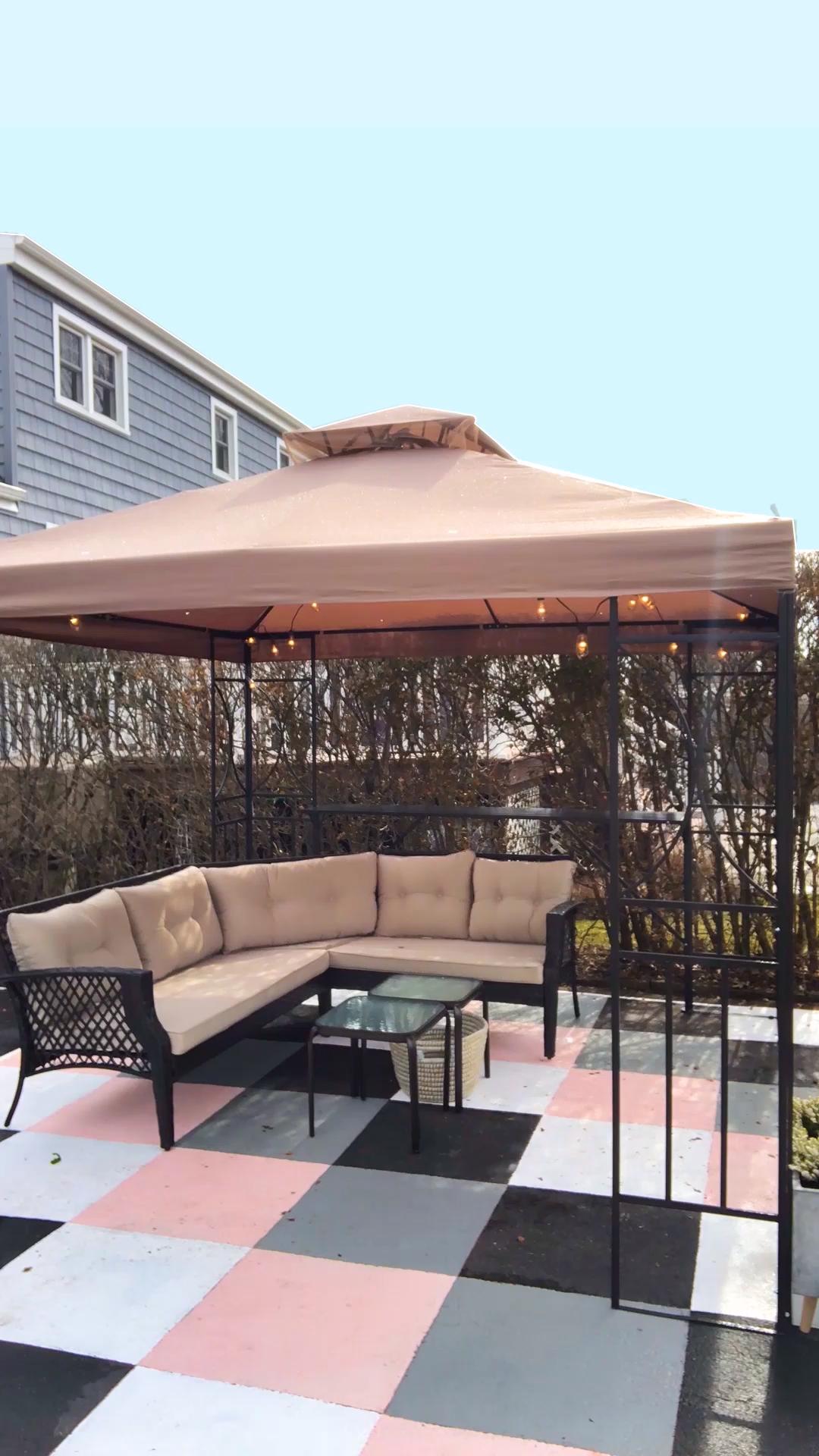 Photo of Cambio de imagen de patio de cemento pintado al aire libre