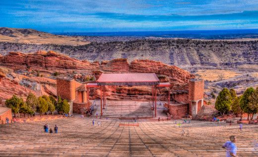 Red Rock Amphitheater Sunset