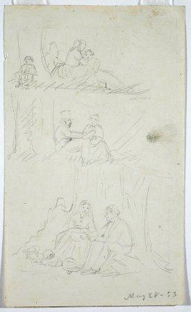 William Sidney Mount, 1853, Three Scenes of a Picnic