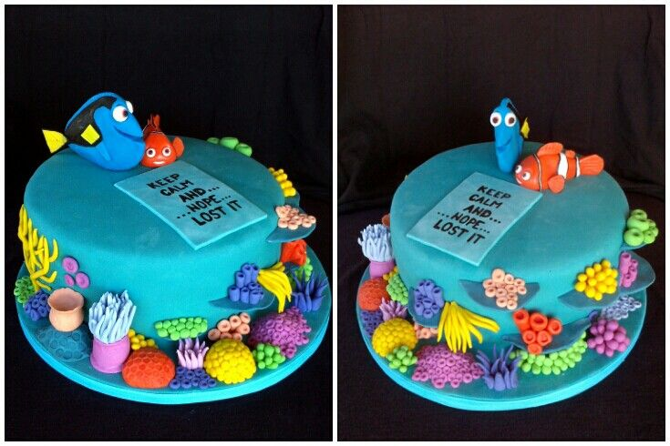 My cake- Nemo and Dory