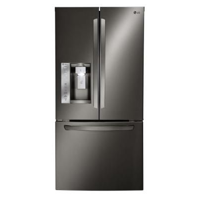 LG Electronics 33 In. W 24.2 Cu. Ft. French Door Refrigerator In Black