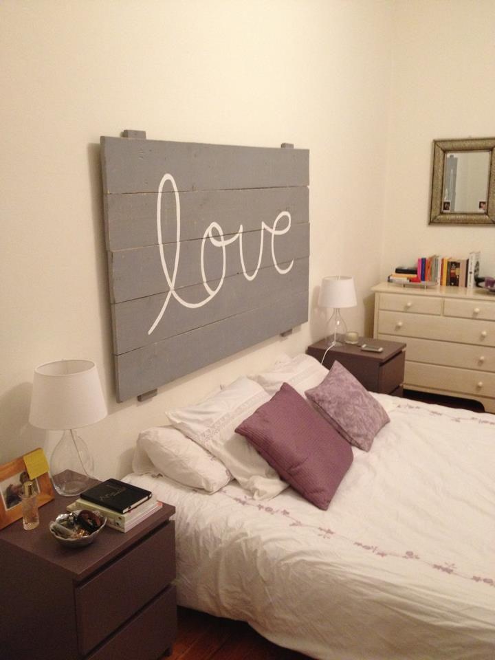 Un cabecero para que escribas lo que tu quieras sweet for Casa ideas decoracion