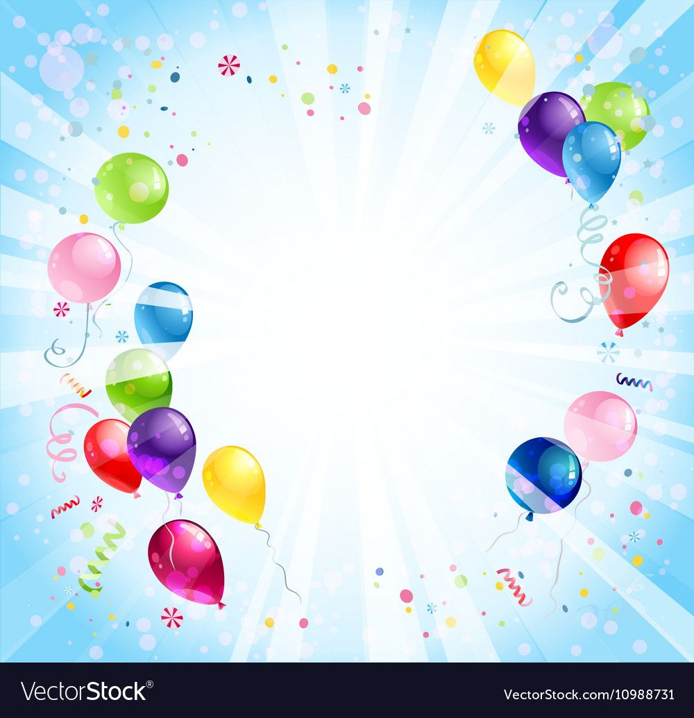 Birthday background with balloons royalty free vector