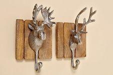 vintage wandhaken hirsch gaderobenhaken wanddeko metall holz 2er set 1538700 dekoration tierkopf amazon wanddekoration