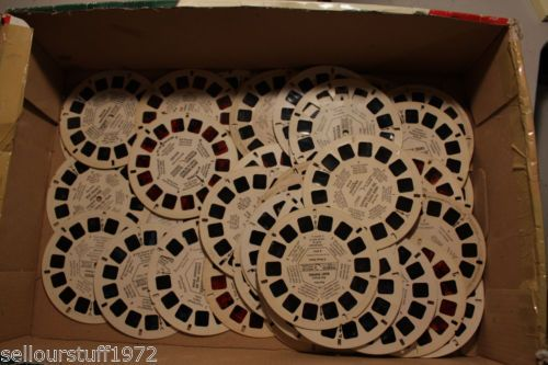 14 bids and 5 hours left! Lot of 65 Vintage 1940's 50's 60's & 70's View-Master Reels