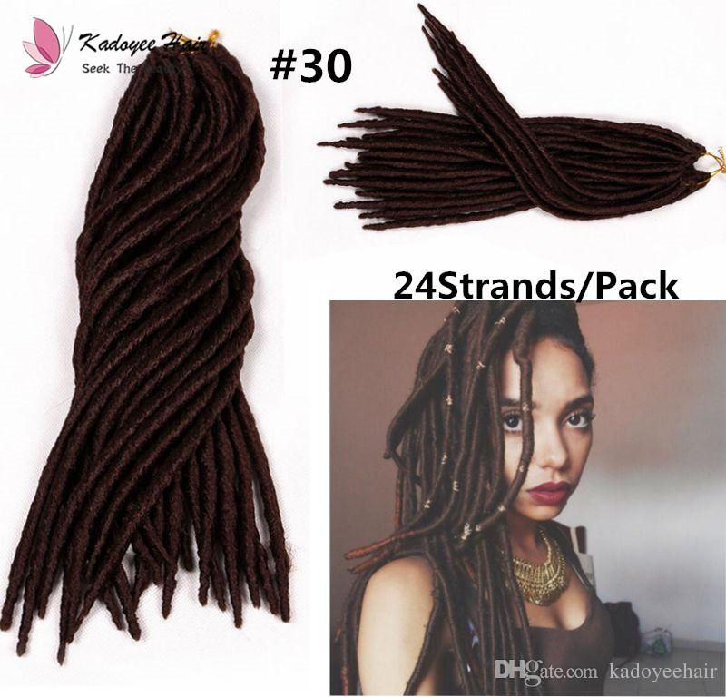 Wholesale Cheap Wavy Faux Locs Type Chinese Synthetic Hair