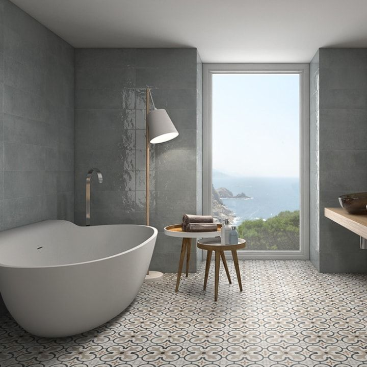 Boulevard Grey And Beige Patterned Floor Tiles Patterned Floor Tiles Grey Bathroom Tiles Grey Wall Tiles
