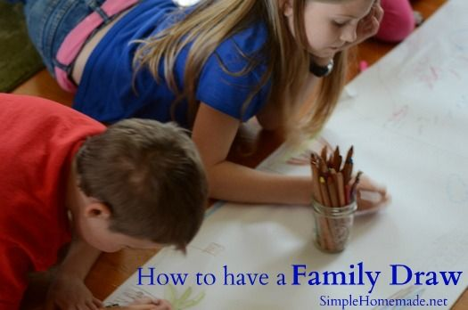How to have a Family Draw. good use for those ROLLS of paper!