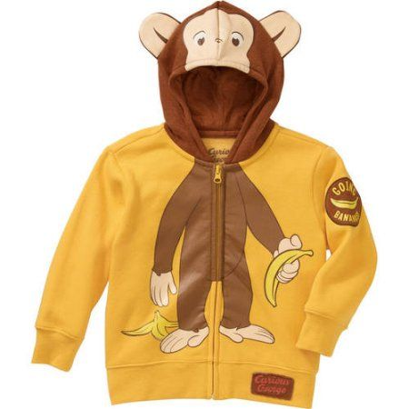 8ca98f9ed0f1 Curious George Toddler Unisex Character Hoodie