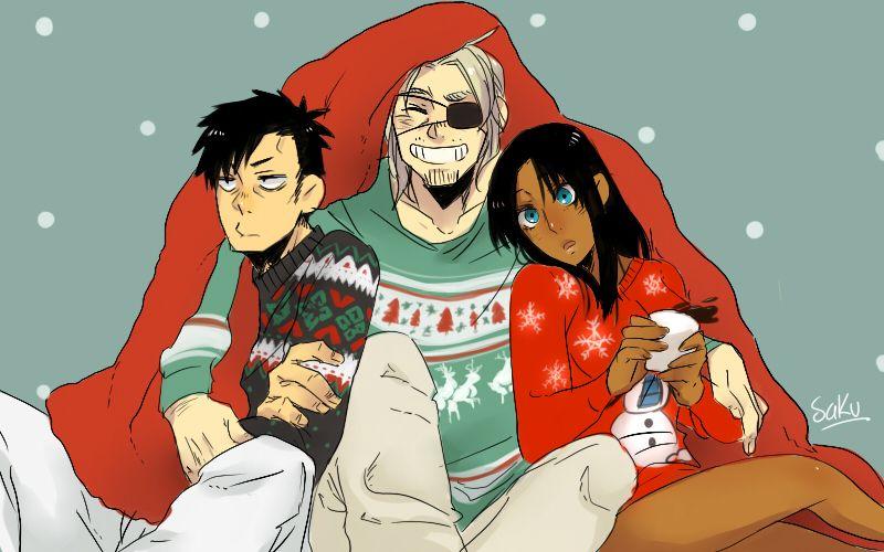 Nicolas, Worick, and Alex ||| Gangsta. Fan Art by pervertedequality on Tumblr