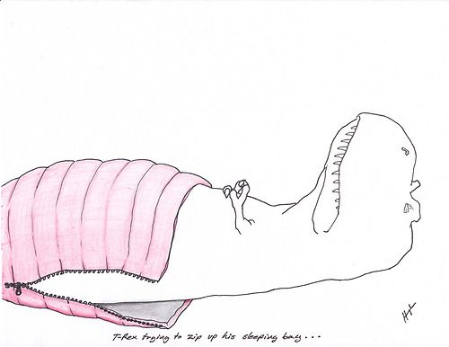 T Rex Tries To Make A Bed