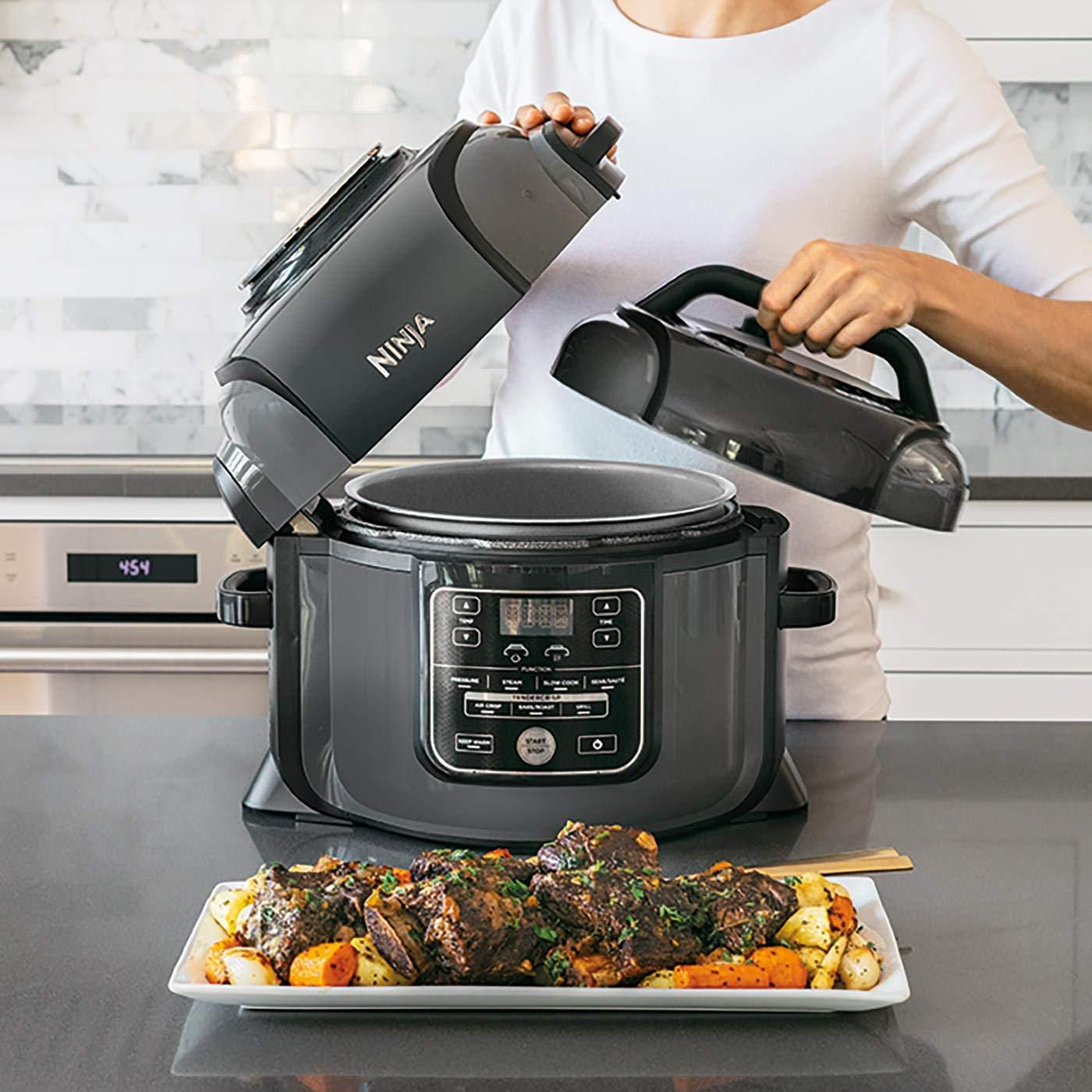 The Pressure Cooker That Crisps Tender Crisp Technology Pressure Cook To Lock In Juices Then Crisp To Perfection Multiple Multicooker Cooker Pressure Cooking