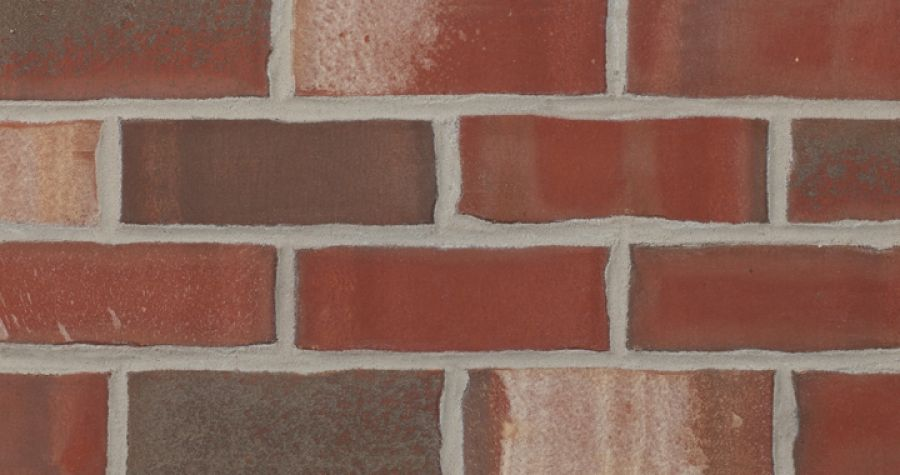 Mesa (Queen) is a red extruded facebrick from the Marseilles Plant #redbrick #glengery #brickhouse #fireplace #backsplash #brick