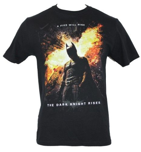 Batman The Dark Knight Rises Black/'s Men/'s T-Shirt Size Medium