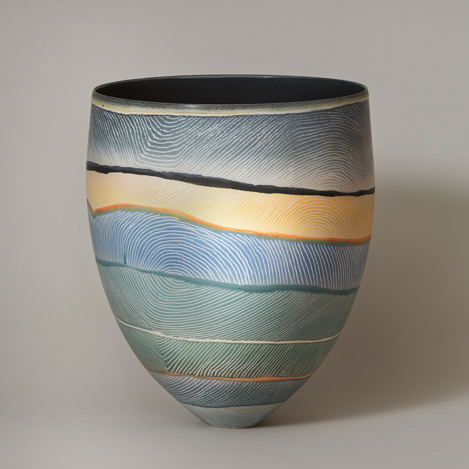 Pippin Drysdale, Chichester Range Flood Plains - Pilbara Series, 2017, porcelain incised with coloured glazes