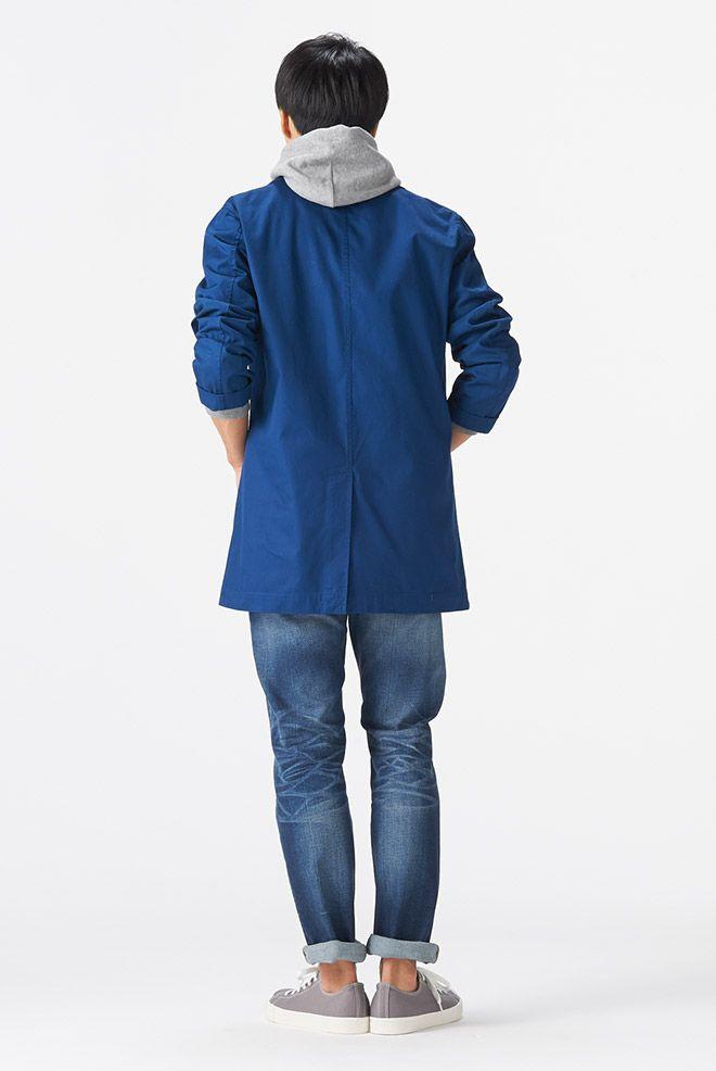 MUJIのステンカラーコート中々良い 衣料品 2015 春夏 コーディネートカタログ 紳士