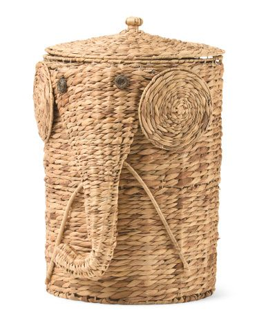 21in Wicker Elephant Hamper Baskets Amp Bins T J Maxx