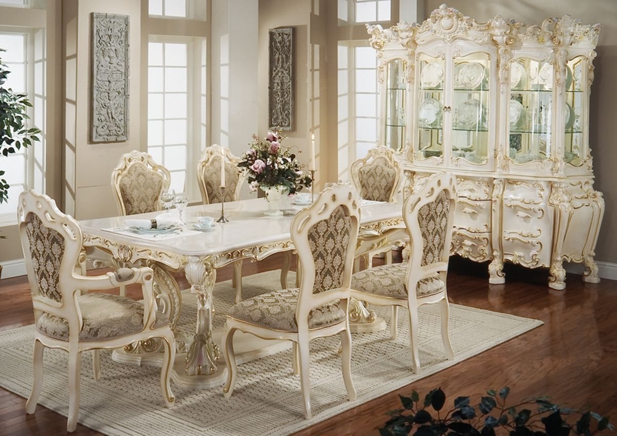 Victorian Style Furniture, Victorian Style Dining Room Setup