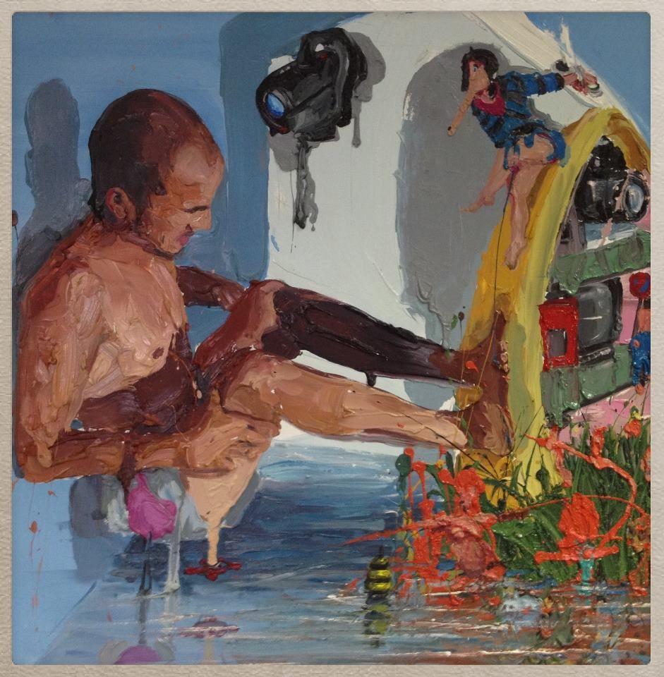Alessandro Passaro, Untitled, acrilico su tela, 60x60 cm, acrylic on canvas, 23.6x23.6 in